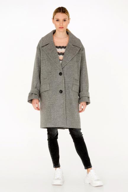 Cappotto Donna Cristina Gavioli CA0002 grigio chiaro