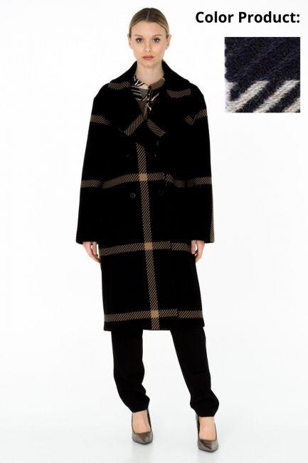 Cappotto Donna Cristina Gavioli CA0003 blu/grigio
