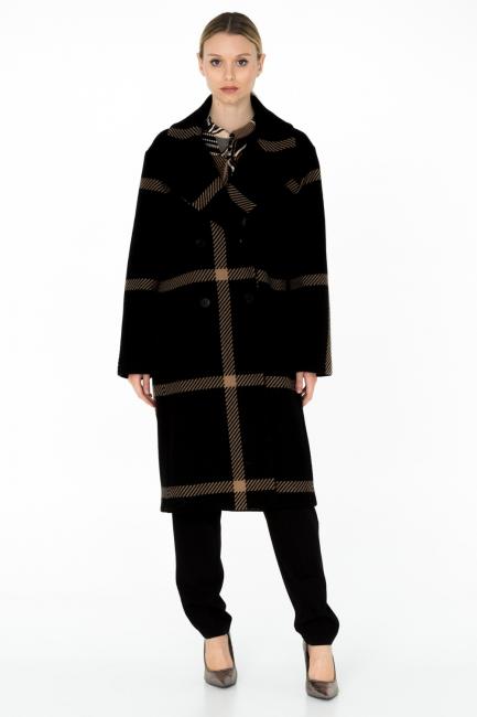 Cappotto Donna Cristina Gavioli CA0003 nero/sabbia