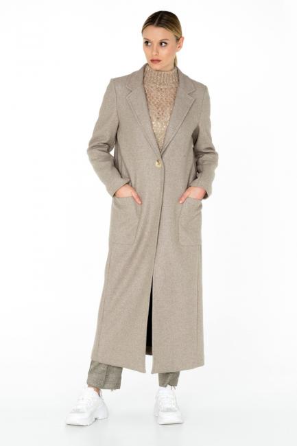 Cappotto Donna Cristina Gavioli CA0005 sabbia/grigio