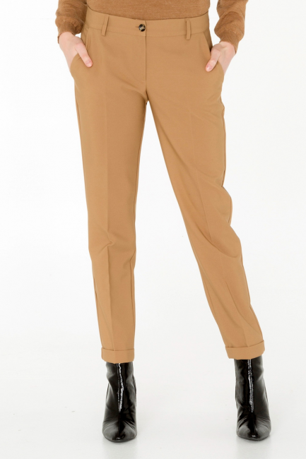 Pantalone Donna Cristina Gavioli CA0023 cammello