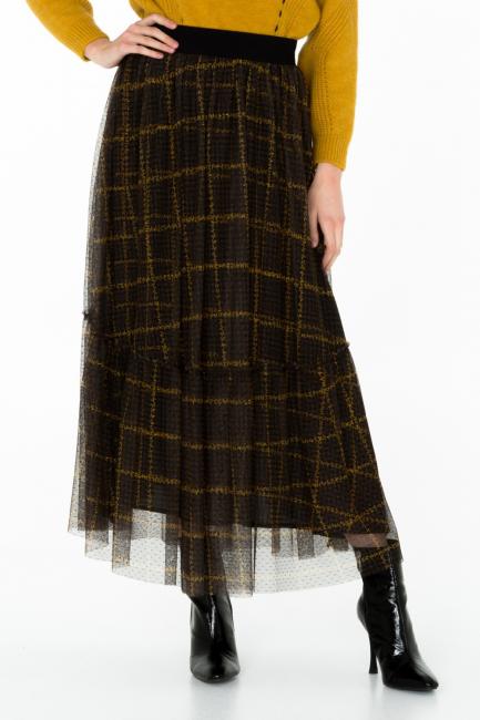 Woman Skirt Cristina Gavioli CA0026 nero/tabacco