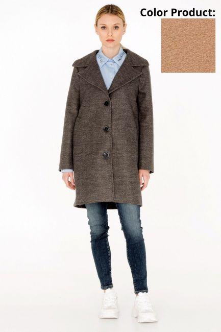 Woman Coat Cristina Gavioli CA0034 cammello