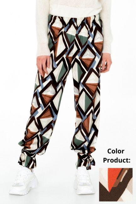 Pantalone Donna Cristina Gavioli CA0057 moro/ruggine