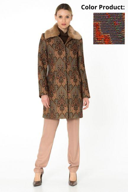 Woman Coat Cristina Gavioli CA0065 coccio/grigio