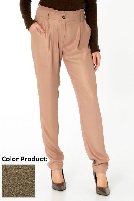 Pantalone Donna Cristina Gavioli CA0068 nero/oro