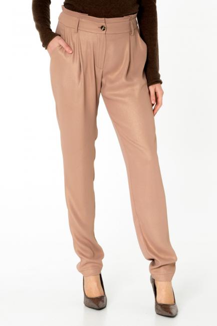 Pantalone Donna Cristina Gavioli CA0068 cipria/oro