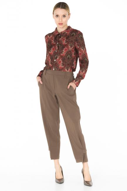 Pantalone Donna Cristina Gavioli CA0079 tortora