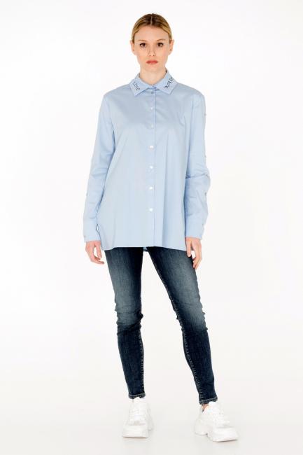 Camicia Donna Cristina Gavioli JA0008 azzurro