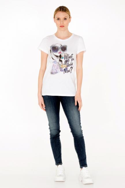 T-shirt Donna Cristina Gavioli JA0009 bianco