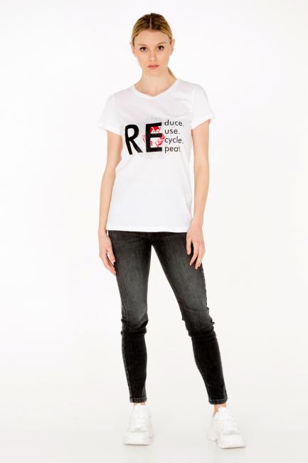 T-shirt Donna Cristina Gavioli JA0010 bianco