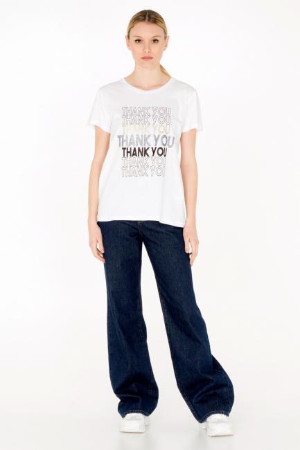 T-shirt Donna Cristina Gavioli JA0011 bianco
