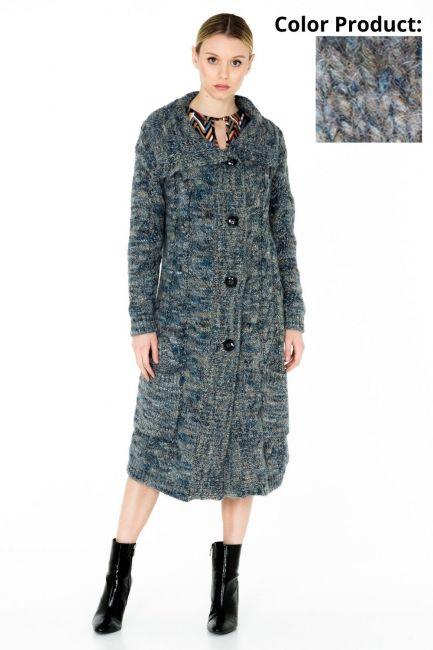 Woman Coat Cristina Gavioli JA0506 azzurro