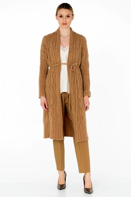 Cappotto Donna Cristina Gavioli KA0046 cammello