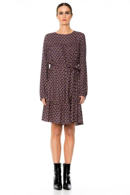 Dress Woman Cristina Gavioli CA1059 Blu/fuxia