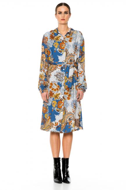 Dress Woman Cristina Gavioli CA1082 Ambra/jeans