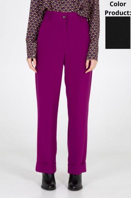 Trousers Woman Cristina Gavioli CA1096 Nero