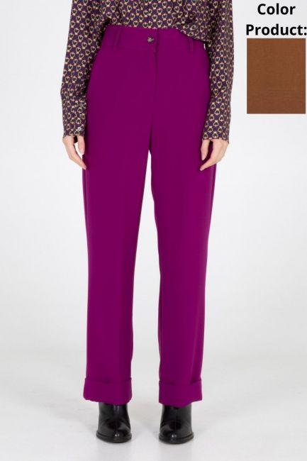 Trousers Woman Cristina Gavioli CA1096 Ruggine
