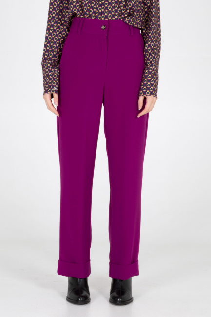 Trousers Woman Cristina Gavioli CA1096 Lampone