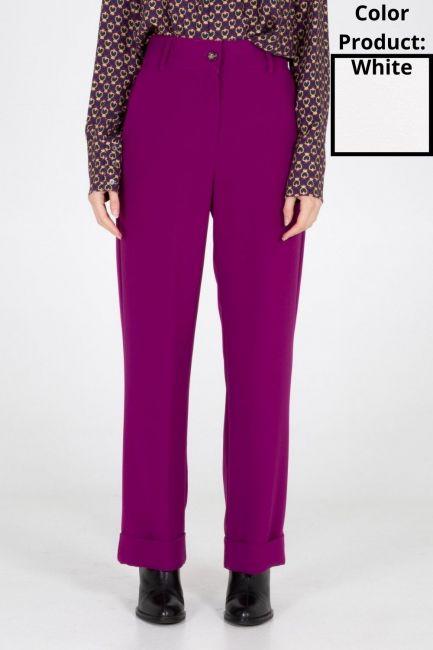 Trousers Woman Cristina Gavioli CA1096 Avorio