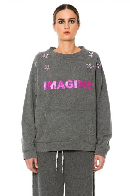 Sweatshirt Woman Cristina Gavioli JA1003 Grigio