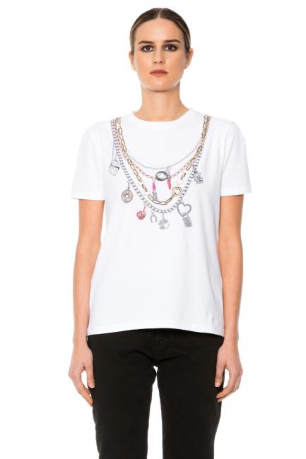 T-shirt Woman Cristina Gavioli JA1011 Bianco