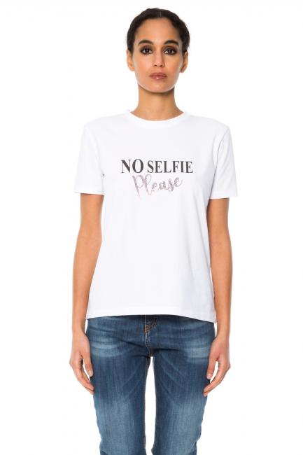 T-shirt Woman Cristina Gavioli JA1012 Bianco