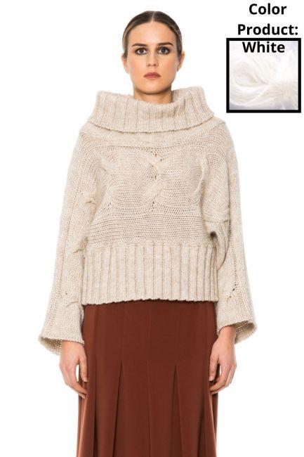 Sweater Woman Cristina Gavioli KA1010 Bianco