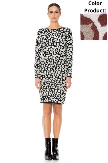 Dress Woman Cristina Gavioli KA1053 Coccio
