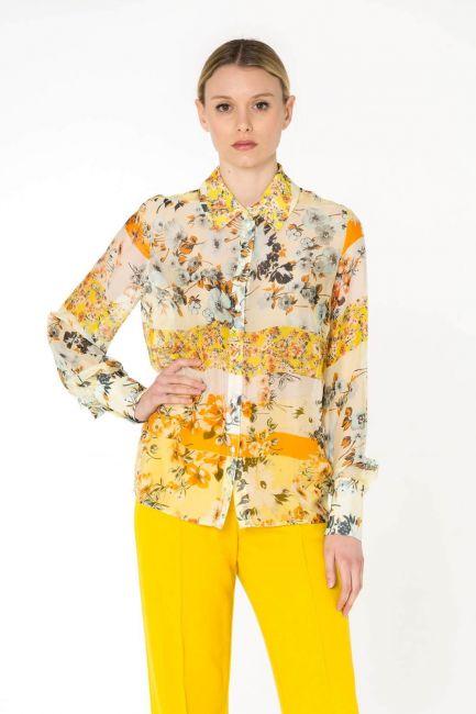 Cristina Gavioli camicia donna CP0081_giallo