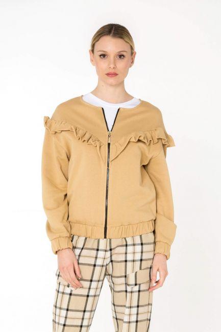Cristina Gavioli sweatshirt woman JP0079_sabbia