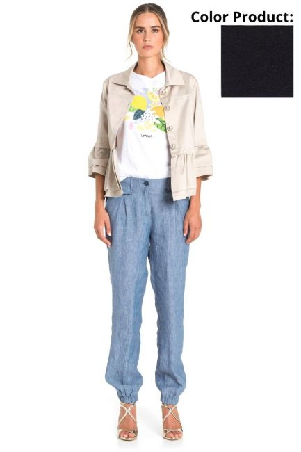 Jacket Woman Cristina Gavioli CP1002 Blu