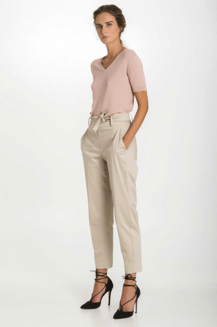 Trousers Woman Cristina Gavioli CP1003 Sabbia