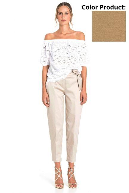 Trousers Woman Cristina Gavioli CP1003 Corda