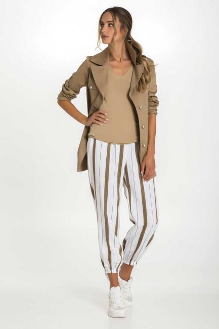 Pantaloni Donna Cristina Gavioli 9009 Bianco