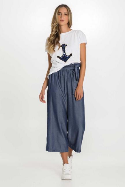 Trousers Woman Cristina Gavioli CP1022 Blu