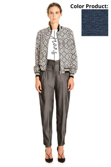 Trousers Woman Cristina Gavioli CP1024 Blu