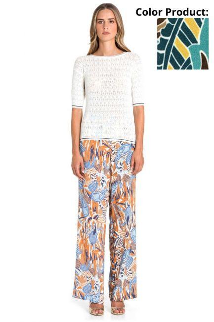Pantaloni Donna Cristina Gavioli 6003 Turchese