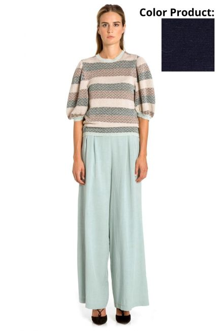 Trousers Woman Cristina Gavioli CP1062 Blu