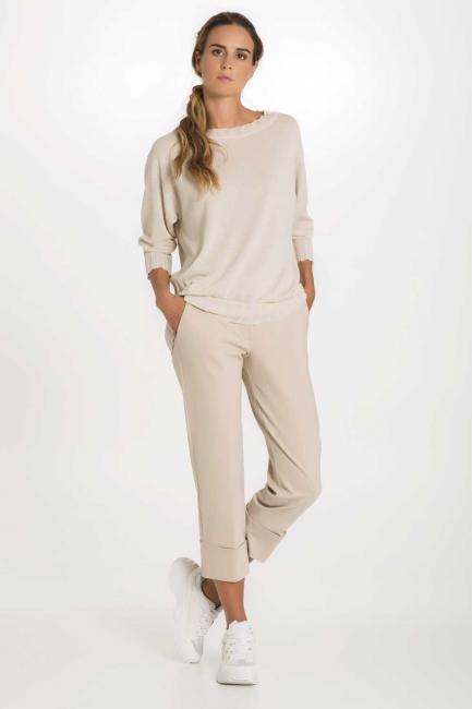Pantaloni Donna Cristina Gavioli 1503 Sabbia