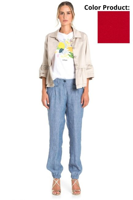 Trousers Woman Cristina Gavioli CP1073 Geranio
