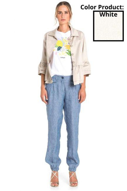 Trousers Woman Cristina Gavioli CP1073 Naturale
