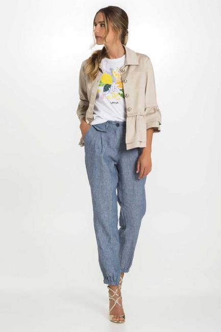 Pantalone elastico sotto Donna Cristina Gavioli 6005 Jeans