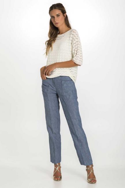 Trousers Woman Cristina Gavioli CP1074 Jeans