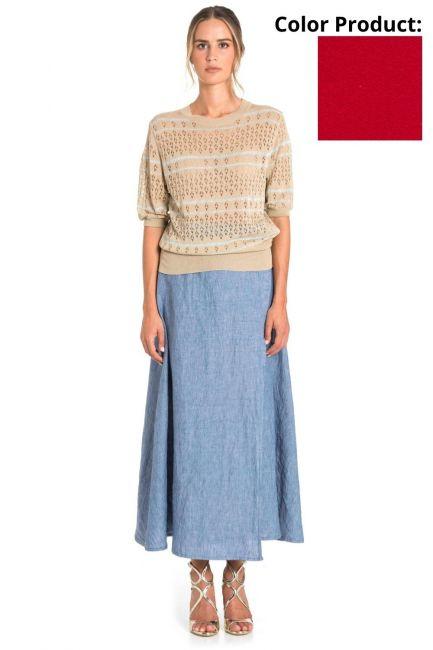 Skirt Woman Cristina Gavioli CP1075 Geranio