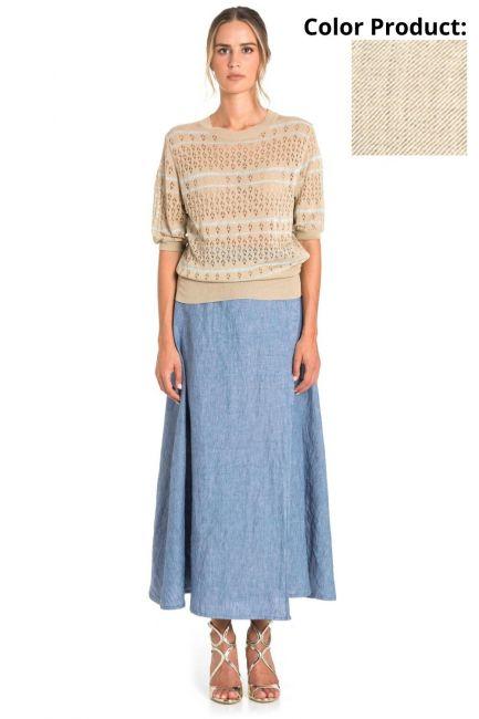 Skirt Woman Cristina Gavioli CP1075 Sabbia