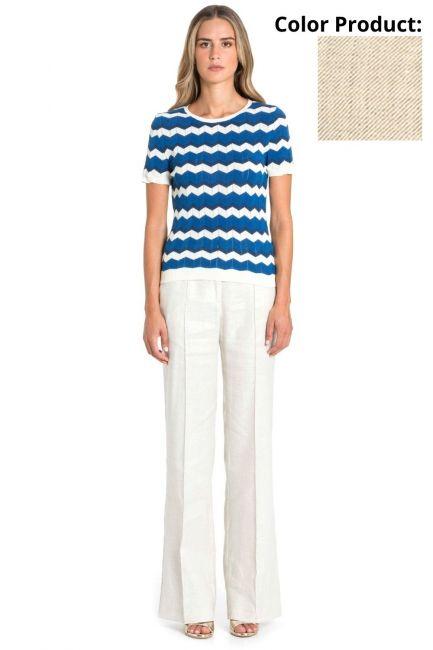 Trousers Woman Cristina Gavioli CP1077 Sabbia