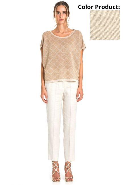 Trousers Woman Cristina Gavioli CP1078 Sabbia