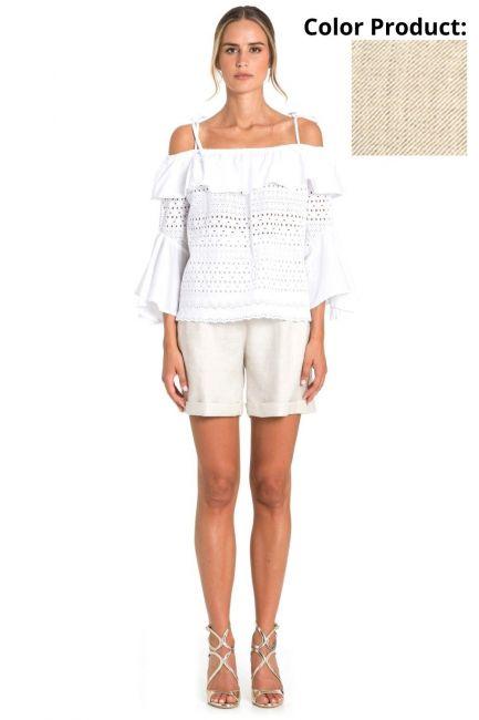 Shorts Woman Cristina Gavioli CP1079 Sabbia