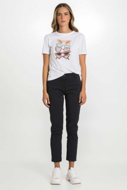 T-shirt Woman Cristina Gavioli CP1082 Bianco